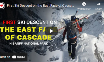 Watch First Ski Descent of Cascade's East Face in Banff